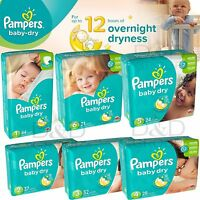 Pampers Baby Dry Disposable Diapers Big Pack All Size 1 2 3 4 5 6 Overnight