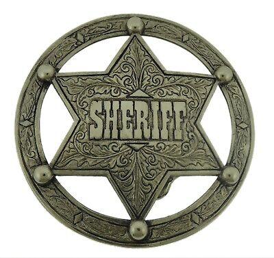 TEXAS SHERIFF STAR Gürtelschnalle Cowboy buckle Rockabilly MIS278