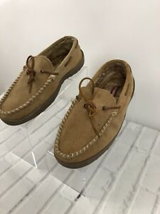 hot sales finest selection brand new Craftsman Men's Kirk Moccasin Slippers Slip on Leather Tan Sz 11 ...