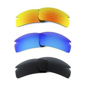 e63b653cb6 NEW POLARIZED REPLACEMENT BLUE FIRE BLACK LENS FOR OAKLEY FLAK 2.0 ...
