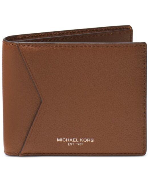 578ef51e9f851b Michael Kors Mens Bryant Brown Luggage Leather Billfold Bifold Wallet  39F5XYTF1L