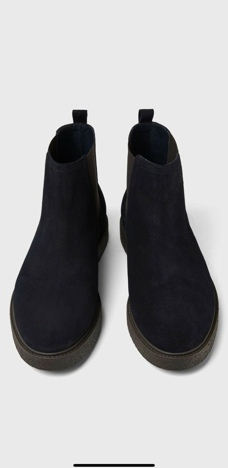 Zara Men bluee Leather Athletic Ankle Boots
