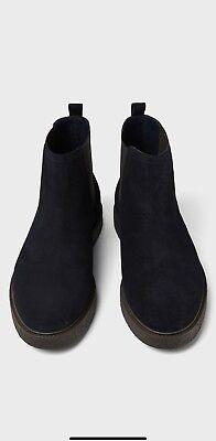 Zara Men Blue Leather Athletic Ankle