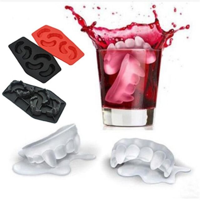 Funny Drink Bar Party Ice Cube Tray Cool Vampire Teeth Style Freeze Mould Maker