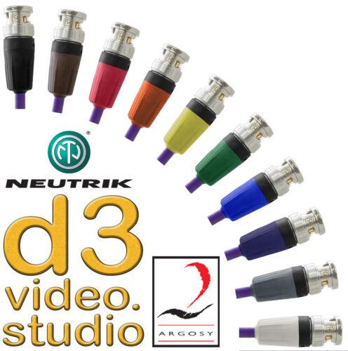 3G HD / SD SDI Professional Image 360 Digital Video Neutrik Rear Twist BNC Cable