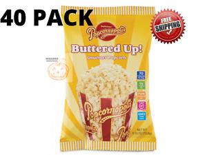 40 Pack, Popcornopolis Buttered-Up Popcorn 0.55 oz ...