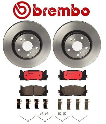4-Genuine Brembo Rotors 2-Front /& 2-Rear for Toyota Camry 2002 to 2005 V6 L4