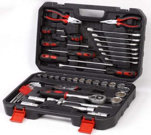 Zölliger Werkzeugkoffer 48 Teile US Car Motorrad HD Werkzeugset Ratsche Zoll