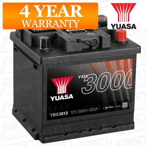 Yuasa Car Battery Calcium 12V 420CCA 50Ah T1 For Fiat Qubo 1.2 1.3 Multijet 95