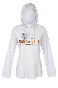HEELS-DOWN-CLOTHING-RIDE-LIKE-A-GIRL-LONG-SLEEVE-TEE-HOODIE-ALL-SIZES-AVAIL