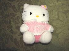 "Hello Kitty Sanrio Plush Doll Knit Pink Sweater 1999 Daniel 9"""