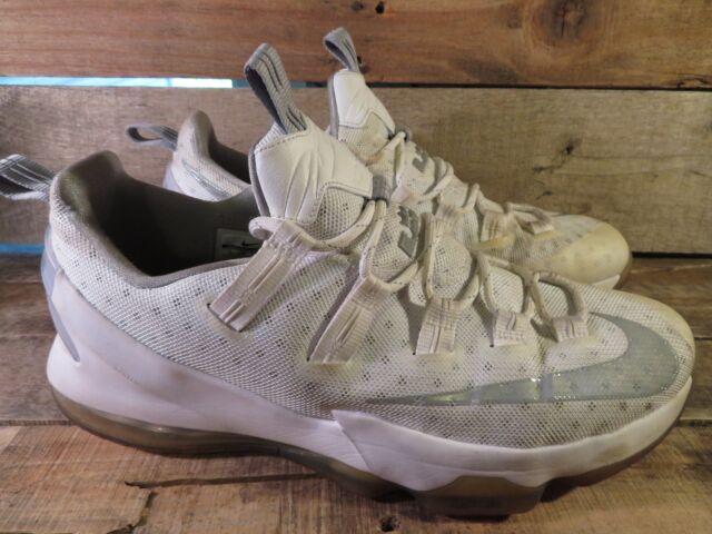c60138c4dd1 Nike LEBRON 13 XIII Low Men s Shoe Size 13 White Metallic Silver 831925-100