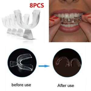 8x Teeth Whitening Mouth Trays Gum Shields Bleaching Teeth Grinding