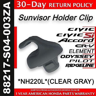 Honda Genuine OEM Sunvisor Clips Gray Clear Gray Clip//holder 88217-S04-003ZA