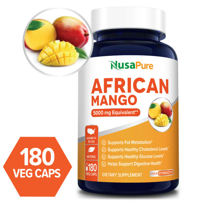 Best African Mango Cleanse 5000mg Per Caps 180 Extra Strong Pure