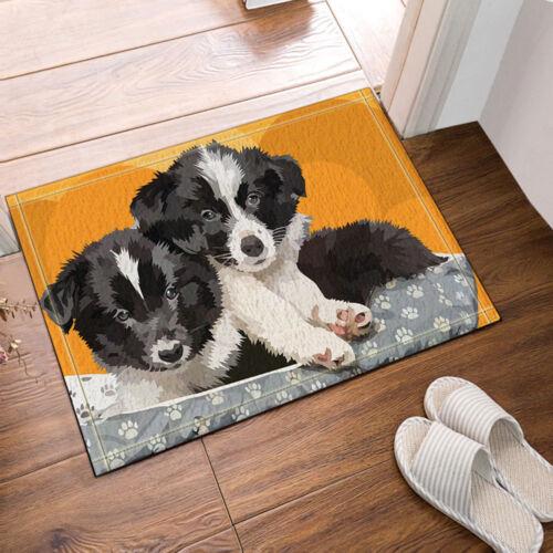Door Mat Bathroom Rug Bedtoom Carpet Bath Mats Rug Border collie dog 40*60cm