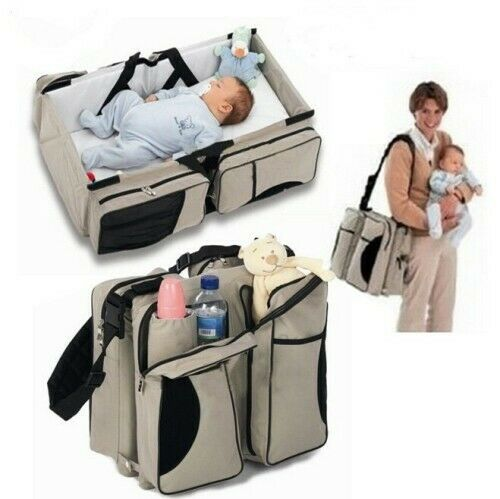 Gift Ideas! Baby Kingdom 2-in-1 Bag & Bed- Travel Cot n  Nappy Bag