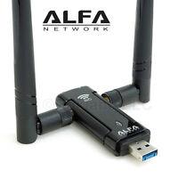 Alfa Awus036ac 802.11ac Ac1200 Wifi Wireless Usb Adapter Dual Band+ 2 Antennas