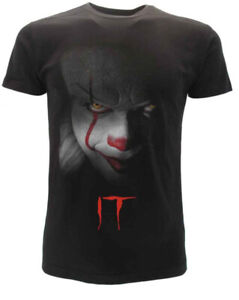 T-shirt-originale-IT-Clown-film-horror-cult-Stephen-King-maglia-maglietta-nera