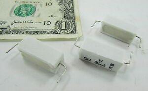 10 Bose Wirewound Ceramic Resistors 5W 8R2 K 10% 8.2 Ohms Podzespoły elektroniczne Axial PRW05WKW82JBML Firma i Przemysł