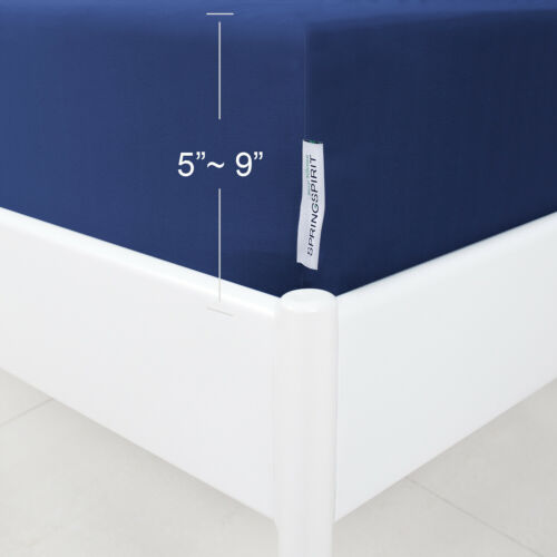 Box Spring Cover with Smooth Elastic Woven Washable Navy Twin//Full//Queen//King