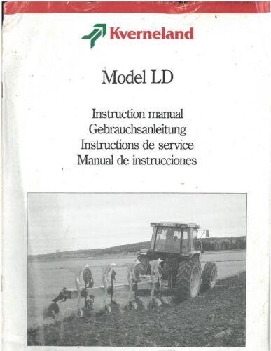 Kverneland Reversible Plough LD80 LD110 LD160 /& LD160HD LD240 Operators Manual