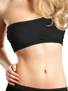 d457a972a1c Image is loading Comfortisse-Strapless-Padded -Bra-Non-Wired-Seamless-Stretch-
