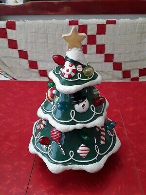 Hallmark Gumdrop Ceramic Christmas Tree Musical Revolving ...