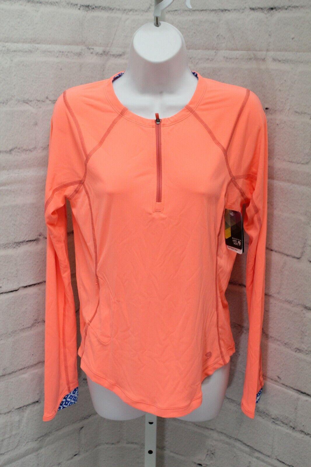 Mountain Hardwear River Gorge Long Sleeve Tee Shirt, Women's Size M, Coralescent