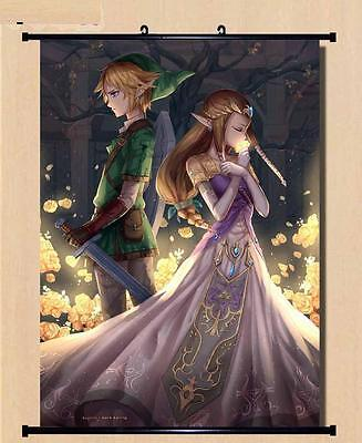 Wall Scroll The Legend of Zelda link princess cosplay Home Decor 60*80cm LW03