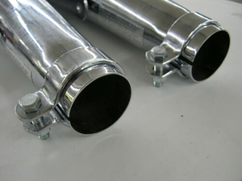 BMW CAFE RACER PEA SHOOTER EXHAUST PIPES MUFFLERS CHROME PAIR