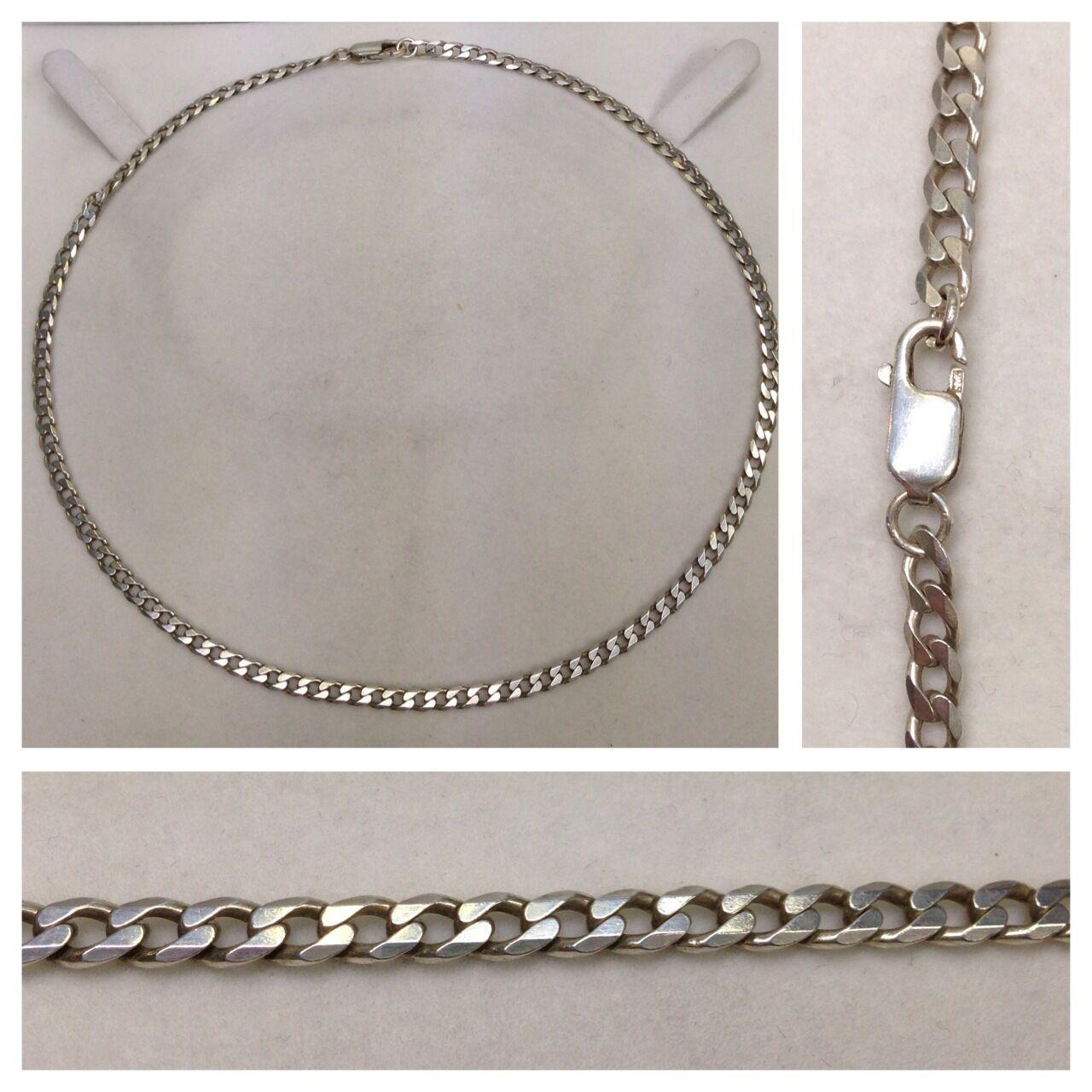 Long collier gourmette 925 silver chaîne en silver bijoux en silver