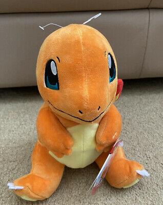 "2020 WCT Wicked Cool Toys Pokemon Charmander Plushie Plush 8/"" Orange Lizard for sale online"