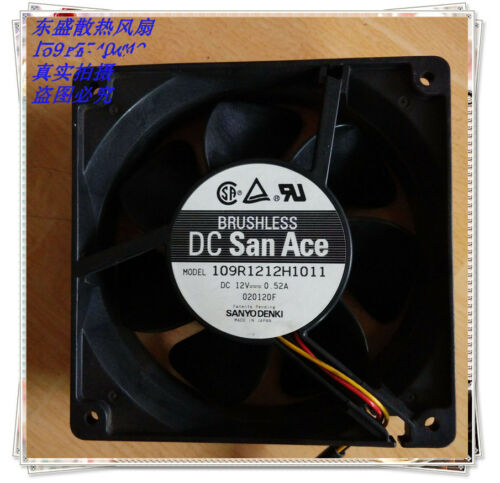 Sanyo 12038 109R1212H1011 DC12V 0.52A chassis cooling fan