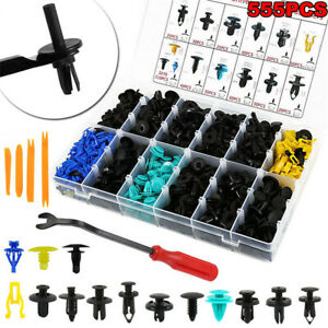 555pcs-Plastic-Car-Bumper-Push-Pin-Fasteners-Rivet-Trim-Panel-Clips-Removal-Tool