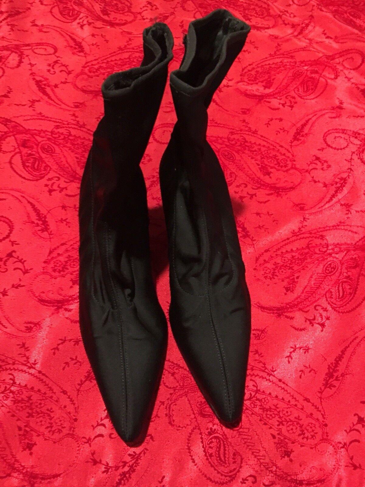Damenschuhe DOLCE & GABBANA BLACK PULL-ON/ BOOTS SIZE 36 1/2