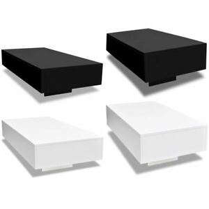Details About Vidaxl Coffee Table Mdf High Gloss Accent Tea Living Room Black White 2 Sizes