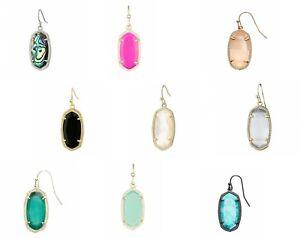 Kendra-Scott-039-Dani-039-Mismatched-SINGLE-Earrings-Black-Turquoise-Cats-Eye-MOP