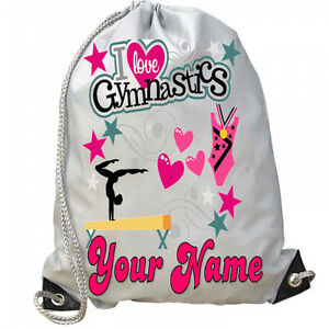 Image Is Loading Personalised Kids S Love Gymnastics Bag For Gym