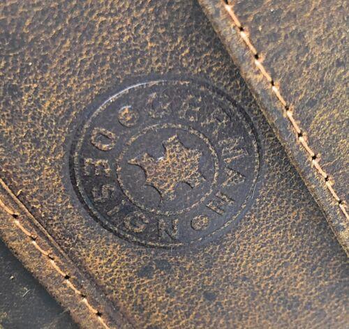 Vintage Leder Herren Geldbörse Portemonnaie Geldbeutel Büffelleder Green Valley