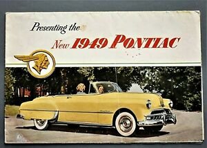 ORIGINAL-1949-PONTIAC-CHIEFTAN-amp-STREAMLINER-SALES-FOLDER-8-PANEL-49PON