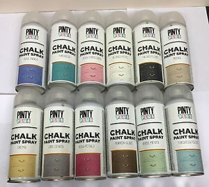 Pinty Plus Chalk Spray Paint Shabby Chic Furniture 400ml 18 Vintage