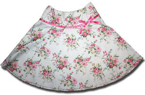 Stunning-LITTLE-WORKERS-Size-6-ROSE-PRINT-Floral-Skirt