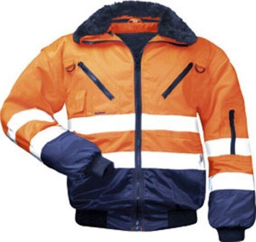 XXL Winter Bomberjacke Jacke Warnschutzjacke Pilotenjacke orange gefüttert  Gr