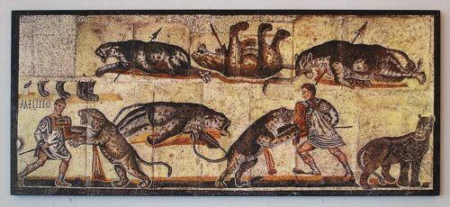 Jagdszenen Römisches Mosaik in Villa Torrenova bei Tusculo Platte Kuriosa 99
