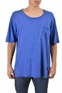 Just Cavalli Homme Bleu Graphique Ras Du Cou T-Shirt US L It 52