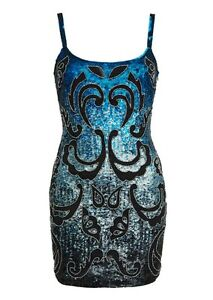 Needle amp thread blue sequin embellished dress christmas ebay