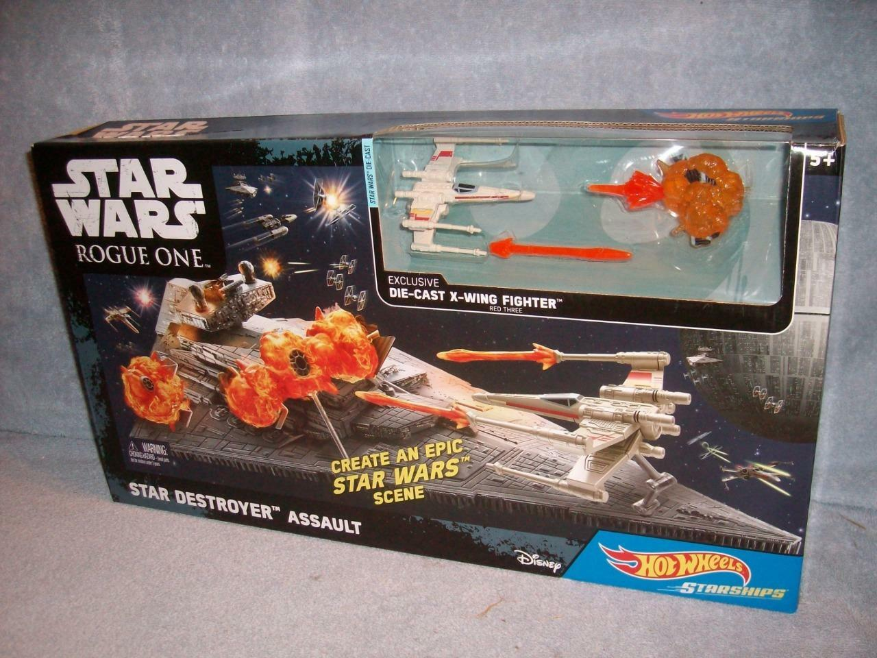 Destructor De Asalto Estrella Wars Estrella Rogue un Hot Wheels naves X-Wing 2016 Nuevo