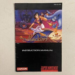 Aladdin SNES Super Nintendo Instruction Manual Booklet Book Only!