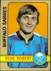 1972 Topps Rene Robert #161 Hockey Card